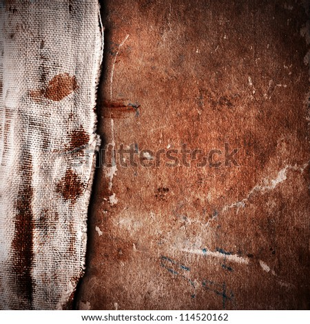 Texture of old book with vignette - stock photo