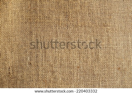 texture of old crumpled burlap,background - stock photo