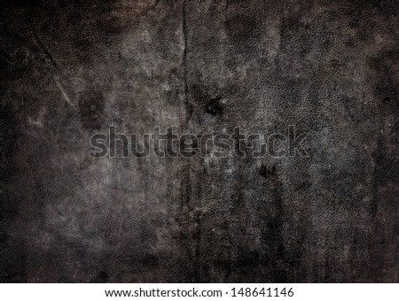 texture of old leather - stock photo