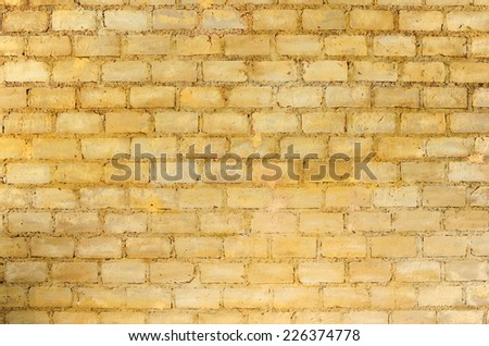Texture Old Rustic Wall Yellow Bricks Stock Photo 226374778 ...
