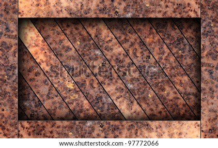 texture of old rusty metal box background - stock photo
