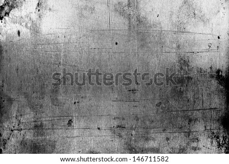texture of old scratched dirty metal - stock photo