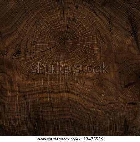 Texture of old wood, stained, polished - stock photo