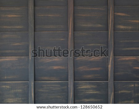 Texture of old wooden pallets - stock photo