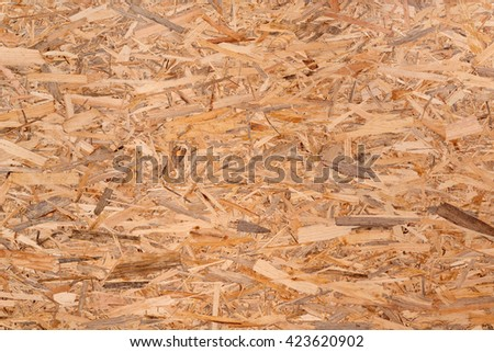 Texture of oriented strand board - OSB - stock photo