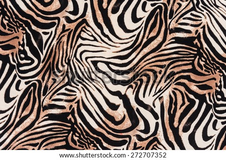 texture of print fabric striped zebra for background - stock photo