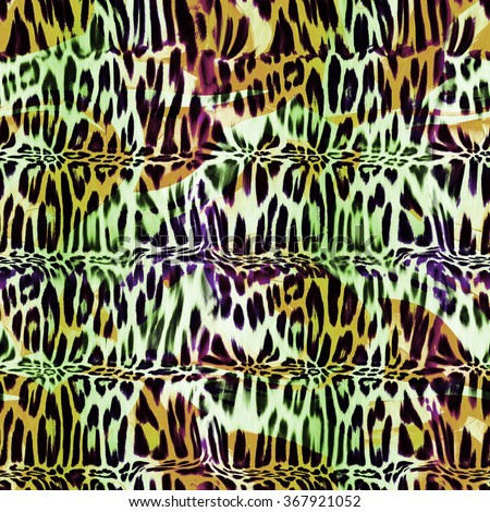 texture of print fabric stripes leopard for background,fabric pattern