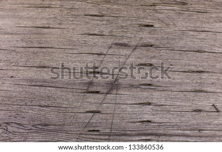 Texture of Railroad tie close up - stock photo