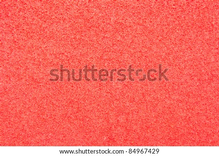 Texture of red foam rubber - stock photo