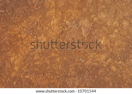 Texture of red rocky ground - stock photo