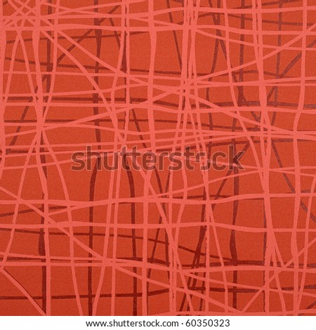 Texture of red rough wall - stock photo