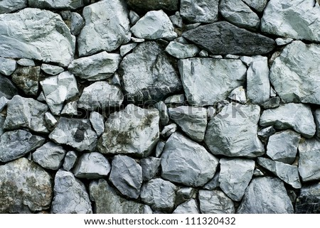 texture of rock wall - stock photo