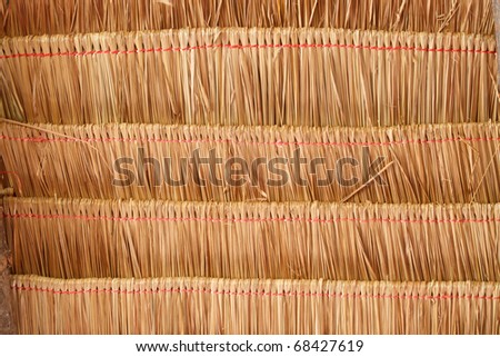 Texture of roof made from grass - stock photo