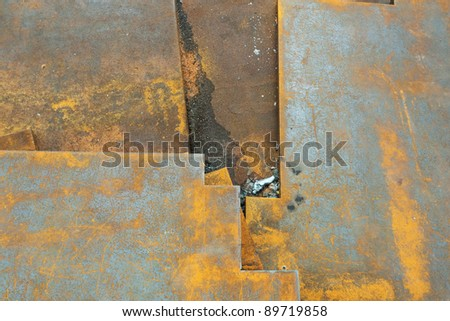 texture of rust  is beautiful - stock photo