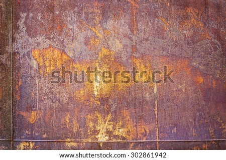 texture of rusty iron.  Old rusty metal plate for background.  - stock photo