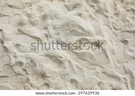 texture of sand. footprints in the sand. - stock photo