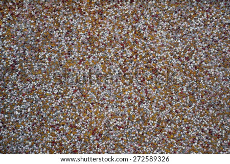 texture of small colorfull stones, background - stock photo