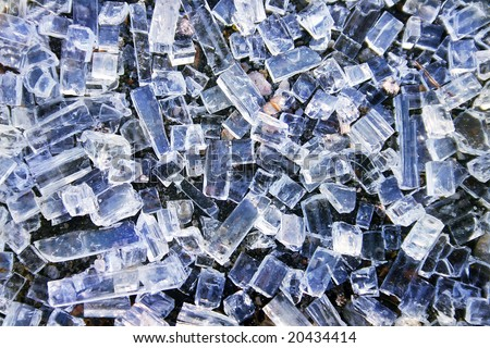 Texture of smashed glass - stock photo