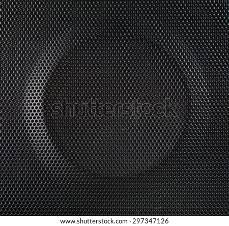 texture of speaker with press punching circle curve from machine