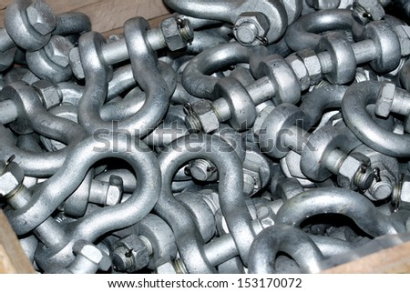 Texture of Steel Hardware for fitting electrical cable with Electrical Steel Tower
