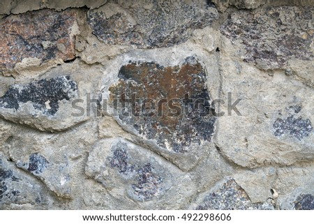 texture of stone masonry construction
