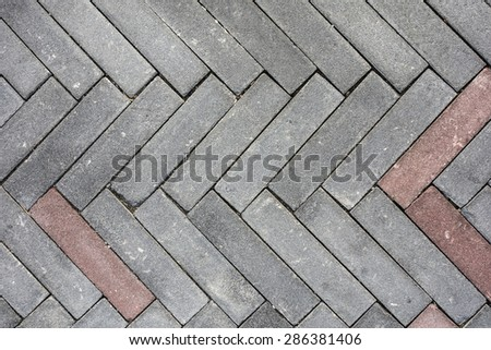 Texture of stone structure road - stock photo