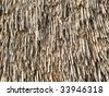 texture of straw roof - stock photo
