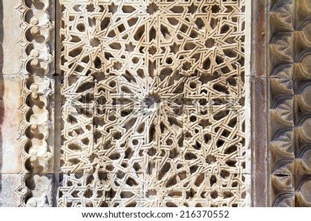 texture of Sultanhani caravansary on the Silk Road, Turkey - stock photo