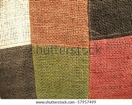 Texture of Thai Handmade Fabric - stock photo