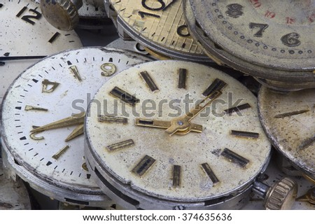 texture of the old clock - stock photo