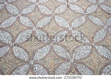 texture of the old floor mosaic. (about 64-63 years. BC)  - stock photo