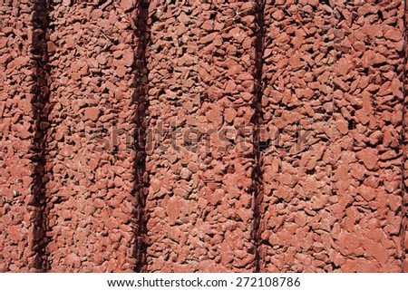 texture of the red stucco, background - stock photo