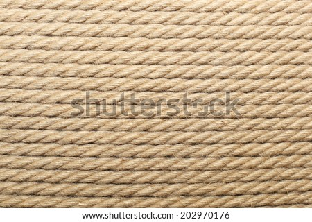 texture of the rows of packing twine - stock photo