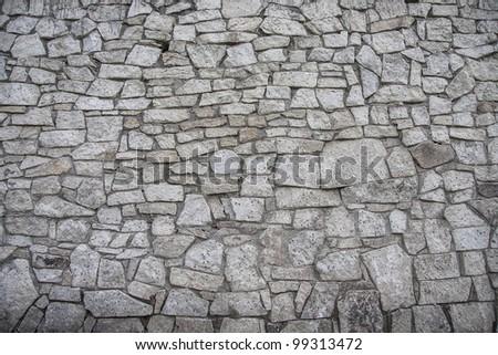 texture of the stone bridge - stock photo