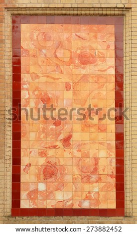 Texture of the walls made of ceramic tile, background. - stock photo