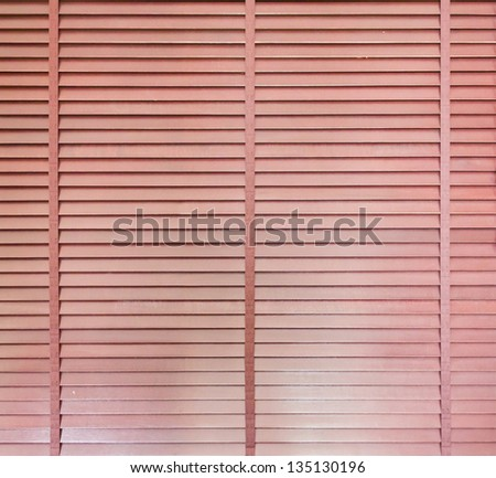 texture of the wooden blinds for background - stock photo