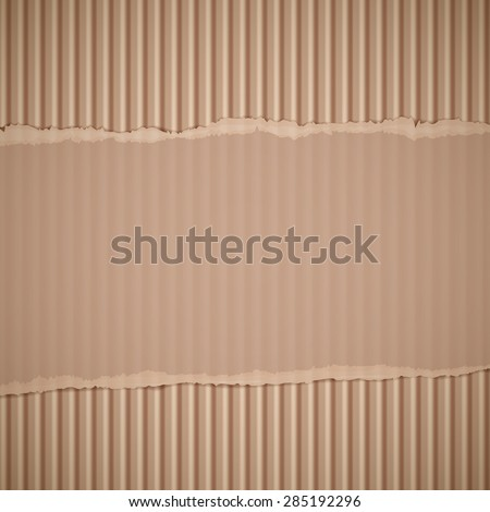 Texture of torn corrugated cardboard. Stock Image background. - stock photo