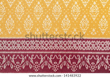 Texture of traditional Thai silk