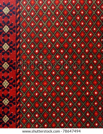 Texture of Turkish Carpet - stock photo