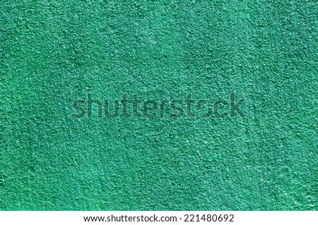 texture of turquise plaster wall background - stock photo