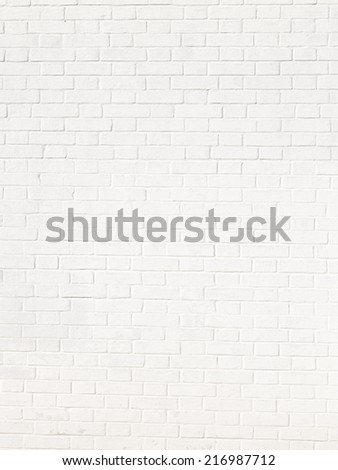 texture of white brick, laid in rows with offset - stock photo