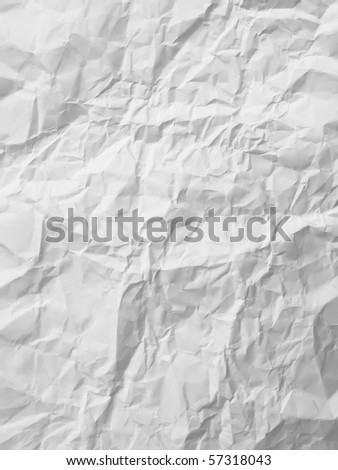 texture of White crumpled paper full frame - stock photo