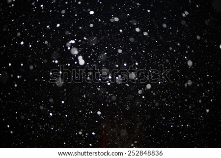 texture of white rain drops on a black background for a filter on the photo - stock photo