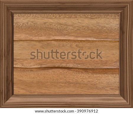 texture of wood in the frame, isolated