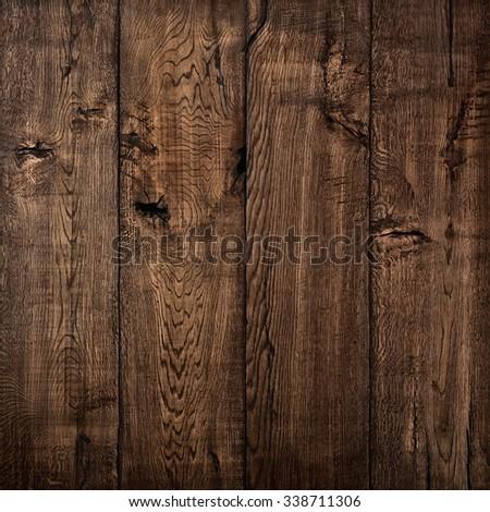 Texture of wood, oak wood dark background - stock photo