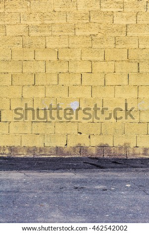 texture of yellow concrete blocks