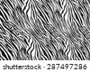 texture of zebra style fabric - stock photo