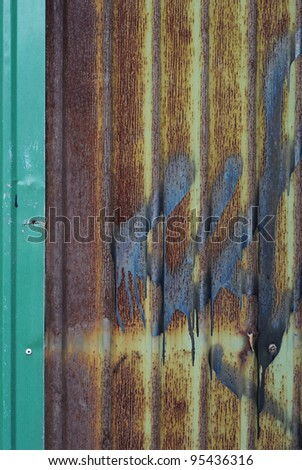 Texture of zinc is beautiful - stock photo