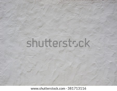 Texture old crumbling wall, white - stock photo