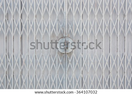 texture old steel sliding door - stock photo